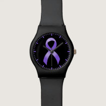 General Cancer - Lavender Ribbon Wrist Watch