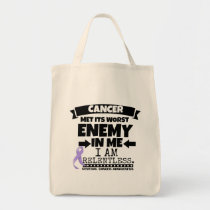 General Cancer Met Its Worst Enemy in Me Tote Bag