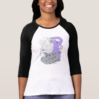 General Cancer Peace Love Cure Tee Shirt