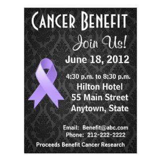 General Cancer Personalized Benefit Flyer Tarjeta Publicitaria