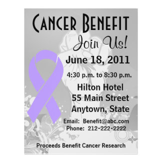 """General Cancer Personalized Benefit Flyer Folleto 8.5"""" X 11"""""""