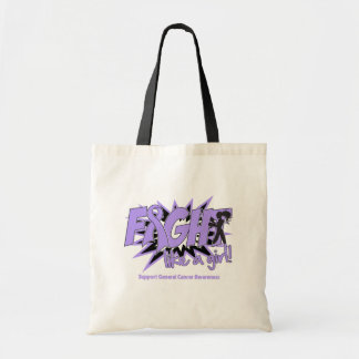 General Cancer POW Style Fight Like A Girl Budget Tote Bag