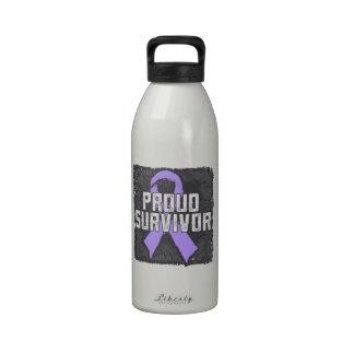 General Cancer Proud Survivor Botella De Agua Reutilizable