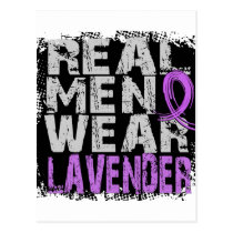 General Cancer Real Men Wear Lavender Postcard