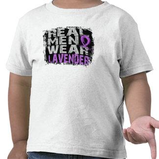 General Cancer Real Men Wear Lavender T-shirt