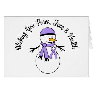 General Cancer Ribbon del muñeco de nieve del Tarjeta De Felicitación