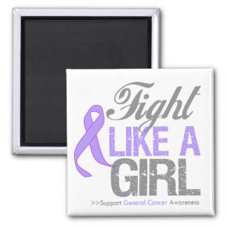 General Cancer Ribbon - Fight Like a Girl Magnet