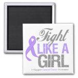 General Cancer Ribbon - lucha como un chica Imán De Frigorífico