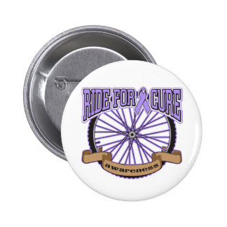 General Cancer Ride For Cure Pinback Button
