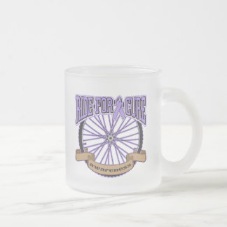 General Cancer Ride For Cure 10 Oz Frosted Glass Coffee Mug