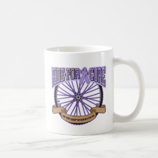 General Cancer Ride For Cure Classic White Coffee Mug
