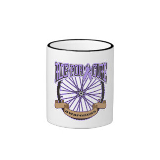 General Cancer Ride For Cure Ringer Coffee Mug