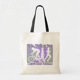 General Cancer Ride Walk Run Canvas Bags