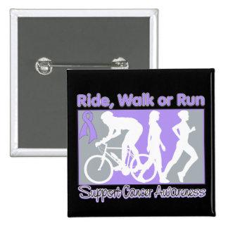 General Cancer Ride Walk Run 2 Inch Square Button