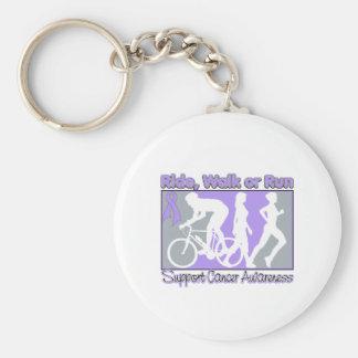 General Cancer Ride Walk Run Basic Round Button Keychain