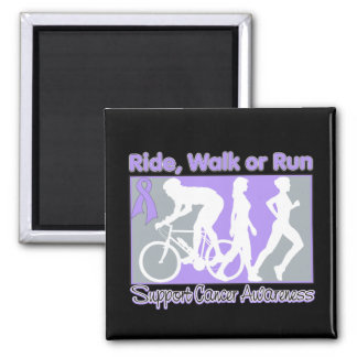General Cancer Ride Walk Run 2 Inch Square Magnet