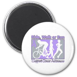 General Cancer Ride Walk Run 2 Inch Round Magnet