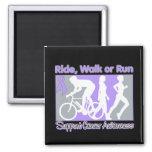 General Cancer Ride Walk Run Magnets