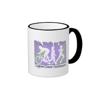 General Cancer Ride Walk Run Ringer Coffee Mug