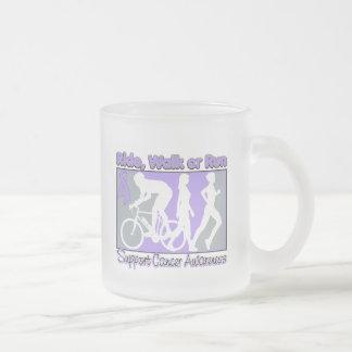General Cancer Ride Walk Run 10 Oz Frosted Glass Coffee Mug