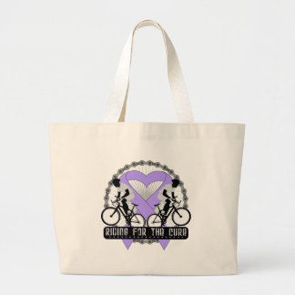 General Cancer Riding For The Cure Tote Bags