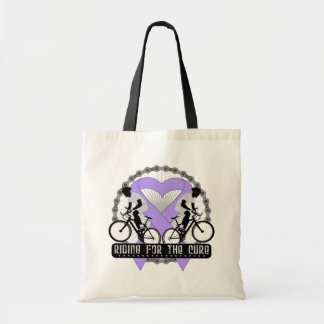 General Cancer Riding For The Cure Canvas Bags