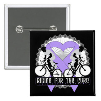 General Cancer Riding For The Cure Button