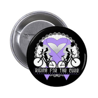 General Cancer Riding For The Cure Pinback Buttons