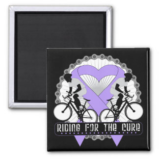 General Cancer Riding For The Cure 2 Inch Square Magnet