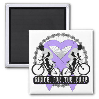 General Cancer Riding For The Cure Magnet