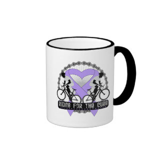 General Cancer Riding For The Cure Ringer Coffee Mug