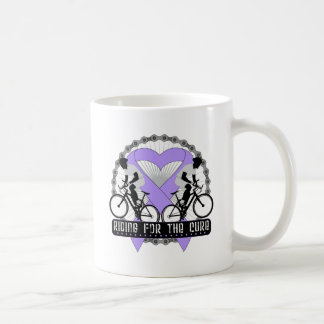 General Cancer Riding For The Cure Classic White Coffee Mug