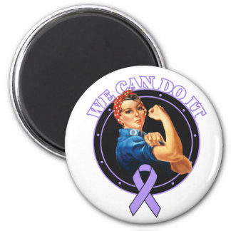 General Cancer - Rosie The Riveter - We Can Do It 2 Inch Round Magnet