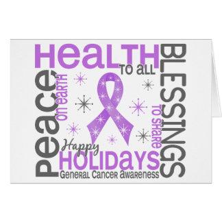 General Cancer Snowflakes del navidad 4 Felicitaciones