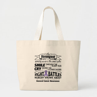 General Cancer Strongest Among Us Large Tote Bag