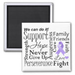 General Cancer Supportive Words Refrigerator Magnets