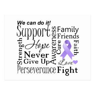General Cancer Supportive Words Tarjetas Postales