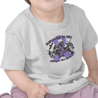 General Cancer Survivor By Day Ninja por noche Camiseta