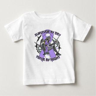 General Cancer Survivor By Day Ninja por noche T-shirts