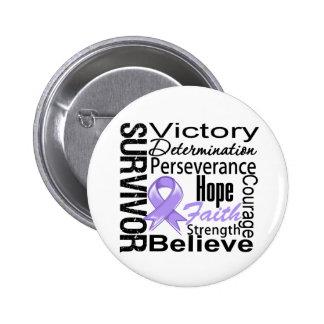 General Cancer Survivor Collage Pins