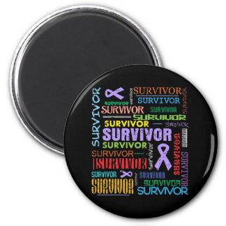 General Cancer Survivor Collage.png 2 Inch Round Magnet