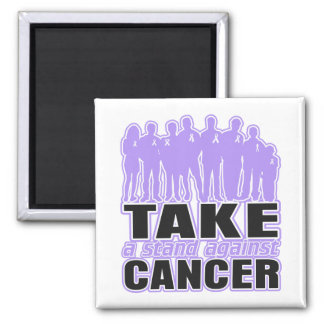 General Cancer - Take A Stand Against Cancer 2 Inch Square Magnet