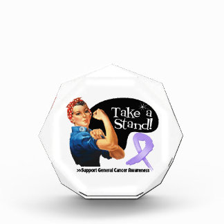 General Cancer Take a Stand Acrylic Award