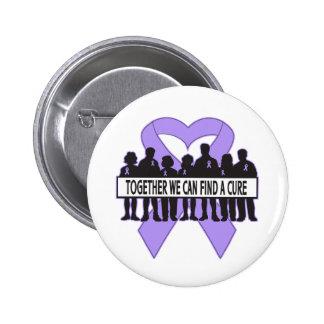 General Cancer Together We Can encuentra una curac Pin Redondo De 2 Pulgadas