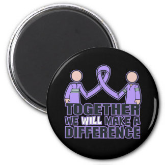 General Cancer Together We Will Make A Difference. 2 Inch Round Magnet