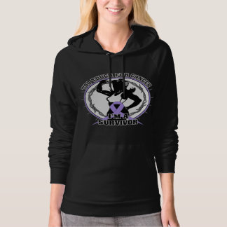 General Cancer Too Tough For Cancer Hooded Pullovers