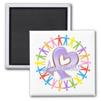 General Cancer Unite in Awareness 2 Inch Square Magnet