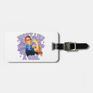 General Cancer Vintage Rosie Fight Like A Girl Travel Bag Tag