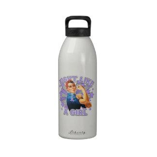 General Cancer Vintage Rosie Fight Like A Girl Drinking Bottles