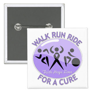 General Cancer Walk Run Ride For A Cure Pinback Buttons